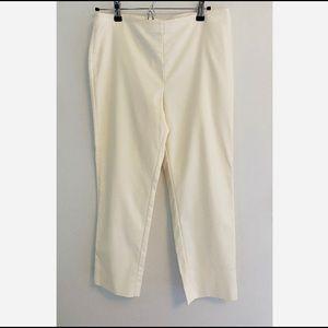 St. John women's white cotton pants size 6